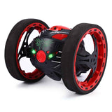 Mini Cars Bounce Car PEG SJ88 2.4GHz RC Car with Flexible Wheels Rotation LED Light Remote Control Robot Car Toys for Gifts - ShopyMart