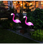 LED Solar Flamingo Stake Light Lantern Solar Powered Pathway Lights Decorative Outdoor Lawn Yard Lamp For Garden Patio - ShopyMart