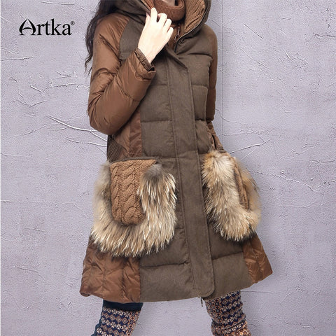 ARTKA Winter Parka Women Down Jacket