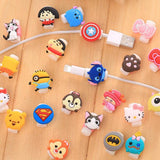 Dropshipping Travel accessories Cute Animals Cable Winder Earphone Protector USB Line Phone Holder Accessory Packing Organizers - ShopyMart