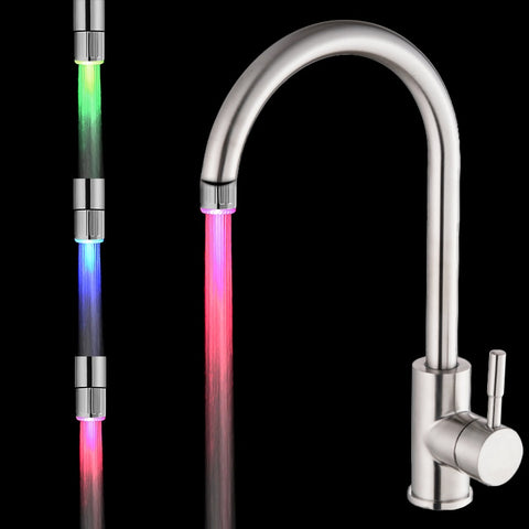 Colorful LED Water Faucet Lights Colorful Changing Glow Shower Head Kitchen Tap Aerators for Kitchen Bathroom Products - ShopyMart