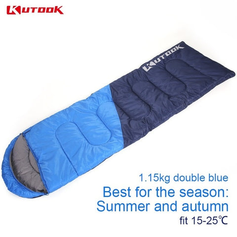 KUTOOK Warm Splicing Sleeping Bag Outdoor Sport Waterproof Thermal Sleeping Bag Comfortable Heated Lazy Bag Adult Winter Camping - ShopyMart
