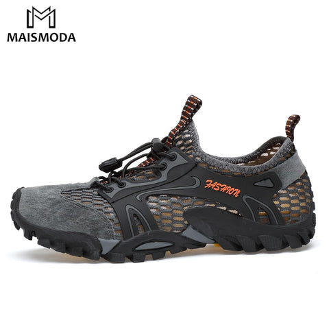 MAISMODA Men Outdoor Sneakers Breathable Hiking Shoes Men Women Outdoor Hiking Sandals Trekking Trail Water Shoes 38-45 YL299 - ShopyMart