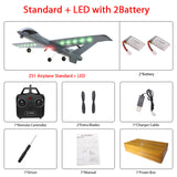 RC Airplane Plane Z51 20 Minutes Fligt Time Gliders 2.4G Flying Model with LED Hand Throwing Wingspan Foam Plane Toys Kids Gifts - ShopyMart