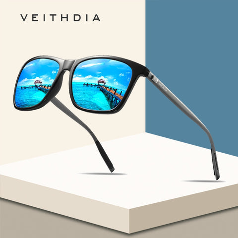 VEITHDIA Brand Unisex Retro Aluminum+TR90 Square Polarized Sunglasses Lens Vintage Eyewear Accessories Sun Glasses For Men/Women - ShopyMart