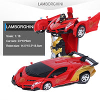 RC Car Transformation Robots Sports Vehicle Model  Robots Toys Cool Deformation Car Kids Toys  Gifts For Boys - ShopyMart