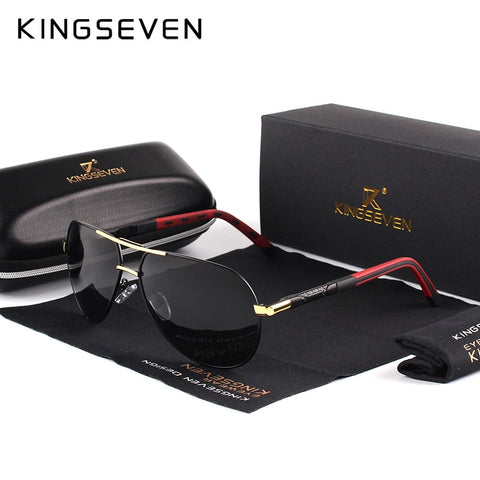 KINGSEVEN Men Vintage Aluminum Polarized Sunglasses Classic Brand Sun glasses Coating Lens Driving Shades For Men/Wome - ShopyMart