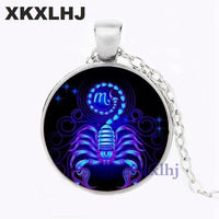 XKXLHJ Virgo Sign Necklace 12 Star Constellation Pendant Zodiac Horoscope Astrology Disk Necklaces Cancer Gemini Leo Jewelry - ShopyMart