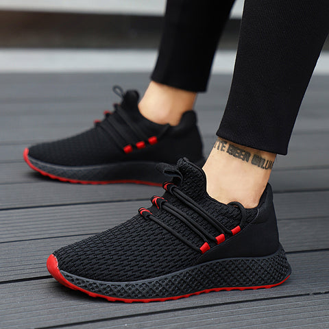 Male Breathable Comfortable Casual Shoes Fashion Men Canvas Shoes Lace up Wear-resistant Men Sneakers zapatillas deportiva - ShopyMart