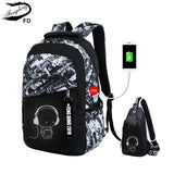Waterproof School Student Backpack