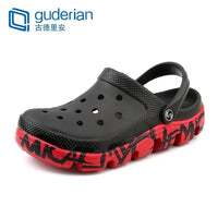 GUDERIAN Men Clogs Sandals Casual Summer Shoes Men Fashion Flip Flops Men Leather Sandals Light Beach Shoes Schoenen Mannen - ShopyMart