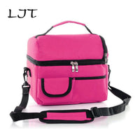 LJT 8L Large  Cooler Bag High Quality Double Insulation Package Lunch Picnic Bag Waterproof Thermal Bag bolsa termica - ShopyMart