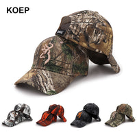 KOEP 2019 New Camo Baseball Cap Fishing Caps Men Outdoor Hunting Camouflage Jungle Hat Airsoft Tactical Hiking Casquette Hats