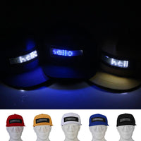 Fashion LED Screen Letter Display Baseball Cap Cool Party Performance Decor Hat - ShopyMart