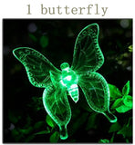 RGB LED Solar Garden Light Outdoor Waterproof For Garden Decoration Butterfly Bird Dragonfly Modern path Lawn Solar Lamp Decor - ShopyMart