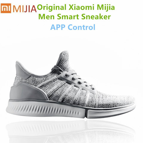 Original Xiaomi Mijia Smart Sneaker Men Lithe Breathable Air Mesh Mi smart APP sneakers Sports shoes male Outdoor Running Shoes - ShopyMart