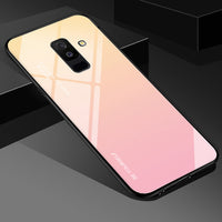EKDME Tempered Glass Case For Samsung Galaxy S8 S9 S10 Plus S10e A50 A30 70 A7 J6 A8 2018 Note 8 9 M30 M20 Aurora Colorful Cover - ShopyMart