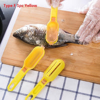 Fish Scales Graters Scraper Fish Cleaning Tool Scraping Scales Device with Cover Home Kitchen Cooking Fishing Tool Pesca Tackle - ShopyMart