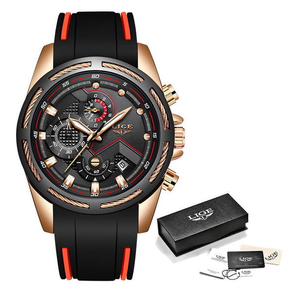LIGE New Mens Watches Top Luxury Brand Men Unique Sports Watch Men's Quartz Date Clock Waterproof Wrist Watch Relogio Masculino - ShopyMart
