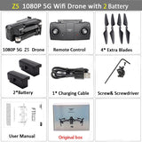 WiFi FPV RC Drone 4K Camera Optical Flow 720P Dual Camera RC Quadcopter Foldable Selfie Dron Visuo XS816 VS XS809S XS809HW SG106 - ShopyMart