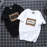 WSFS T Shirt Women Summer Short Sleeves Tee Shirts Tops Harajuku Leopard Print Tshirt 65% Cotton Ulzzang T-shirt Women Plus Size - ShopyMart