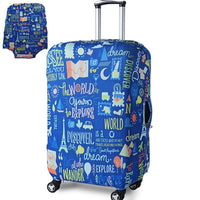 TRIPNUO Thicker Blue City Luggage Cover Travel Suitcase Protective Cover for Trunk Case Apply to 19''-32'' Suitcase Cover - ShopyMart