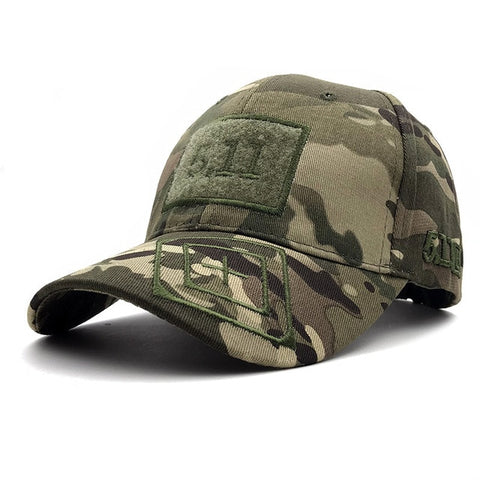 RITOPER Camouflage Outdoor Baseball Caps 511 Army Jungle Caps Velcro Embroidery 10 Colors Tactics Soldier Hat Unisex New - ShopyMart