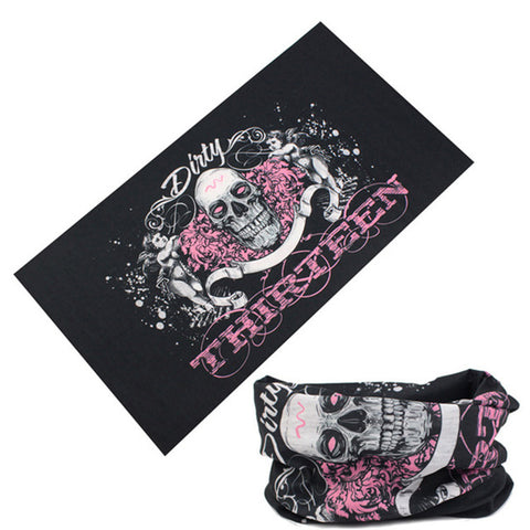 Fashion Graffiti Red Lattice Magic Buffe Tubular Cycling Bandana Outdoor Sport Bicycle Neck Warmer Scarf Face Shield Mask Baff - ShopyMart