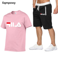 New Fashion Sportsuit and Tee Shirt Set Mens T Shirt Shorts + Short Pants Men Summer Tracksuit Men Casual Brand Tee Shirts 2019 - ShopyMart