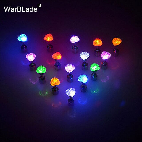 Charm LED Earring Light Up Star Glowing Crystal Stainless Ear Drop Round Stud Earrings Jewelry For Women Bar Nightclub Party - ShopyMart