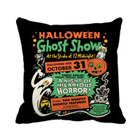 YORIWOO Happy Halloween Party Witch Pumpkin Pillow Case