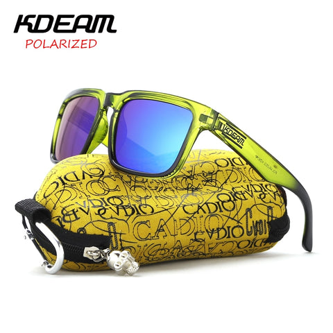 KDEAM Polarized Sunglasses Men Reflective Coating Square Sun Glasses Women Brand Designer UV400 KD901 Dropshipping - ShopyMart