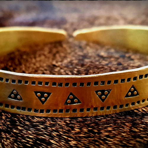 Viking Saxon Stamped Bracelet Arm Ring