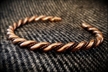 Load image into Gallery viewer, Viking Norse Celtic Saxon Bronze Twisted Bracelet Armring