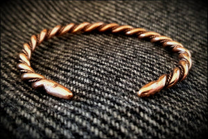Viking Norse Celtic Saxon Bronze Twisted Bracelet Armring