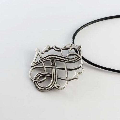 925 Sterling Silver Viking Norse Urnes Dragon Pendant