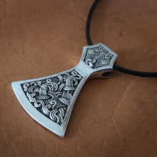 Load image into Gallery viewer, Viking Axe Pendant 925 Sterling Silver Warrior Necklace