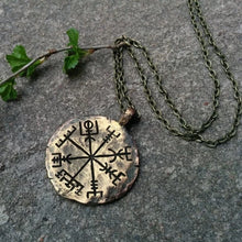 Load image into Gallery viewer, Handcrafted Nordic Vegvisir  Pendant Necklace