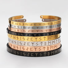 Load image into Gallery viewer, Nordic Viking Elder Futhark Rune Bracelet