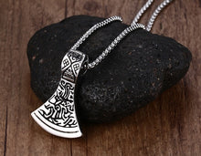 Load image into Gallery viewer, Stainless Steel Nordic Axe Head Pendant Necklace