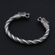 Load image into Gallery viewer, Stainless Steel Nordic Dragon Bracelet
