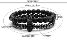 Load image into Gallery viewer, Matte Onyx Stone Beads Bracelets