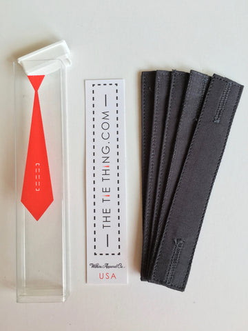 Charcoal 5 Pak from The Tie Thing ® Necktie Restraint