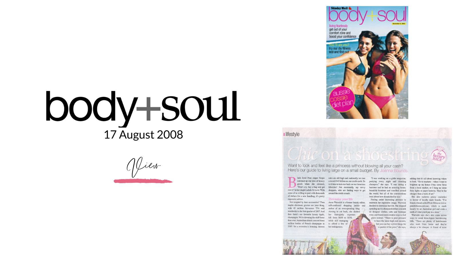 Body & Soul Article dated 17 August 2008