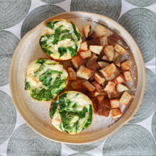 Load image into Gallery viewer, Spinach Feta Egg White Cups