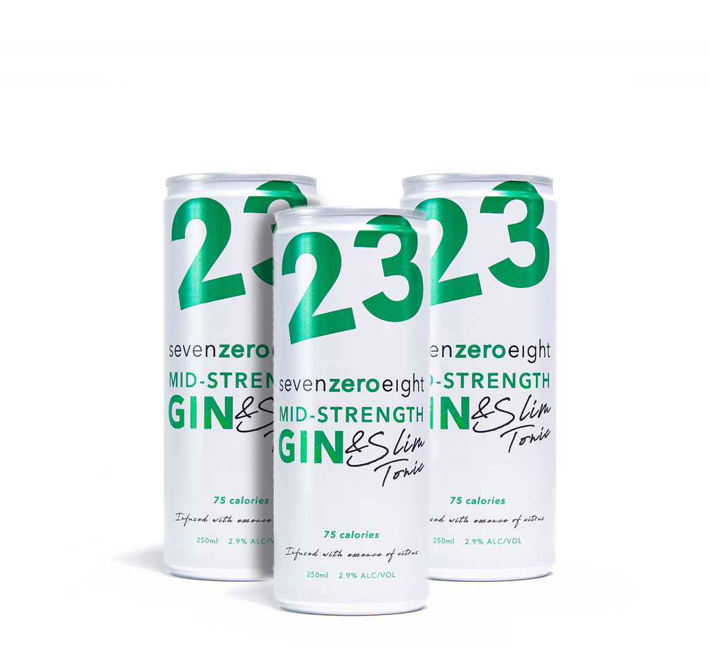 23 'Gin and Slim Cans' x 4