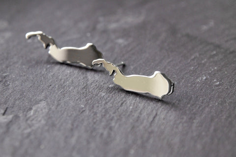 Sterling silver Raasay stud earrings
