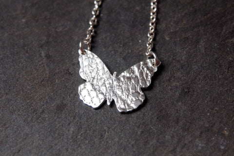 Sterling silver butterfly pendant - The Silver Grasshopper