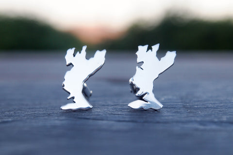 Skye map cufflinks - The Silver Grasshopper