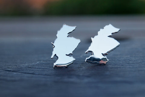Scotland map cufflinks - The Silver Grasshopper